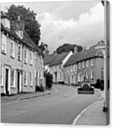 Thaxted Cottages In Black And White Canvas Print