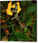 The 1-18 Animal Rescue Team - Cat In Jungle Canvas Print
