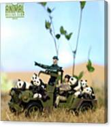 The 1-18 Animal Rescue Team - Pandas On The Savannah Canvas Print