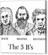 The 3 B's Canvas Print