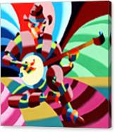 The Abstract Futurist Cowboy Banjo Player Canvas Print