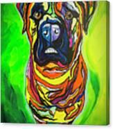 The Abstract Mastiff Canvas Print