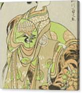 The Actor Segawa Kikunojo II As The Courtesan Maizuru In The Play Furisode Kisaragi Soga Canvas Print