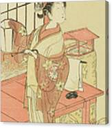 The Actor Segawa Kikunojo II, Possibly As Princess Ayaori In The Play Ima O Sakari Suehiro Genji  Canvas Print