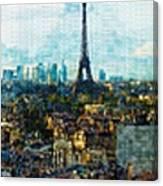 The Aesthetic Beauty Of Paris Tranquil Landscape Canvas Print