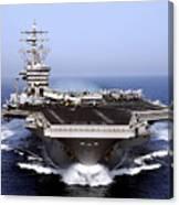 The Aircraft Carrier Uss Dwight D Canvas Print