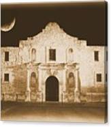 The Alamo Greeting Card Canvas Print