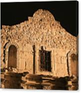 The Alamo On A Cloudless Night Canvas Print
