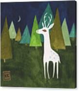 The Albino Deer Canvas Print