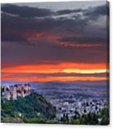 The Alhambra And Granada City Canvas Print