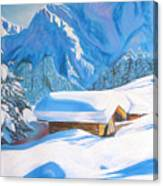 The Alpine Hut Canvas Print
