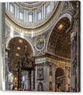 The Altar And Dome In St Peter's Basilica Canvas Print