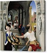 The Altar Of St. John, Right Panel Canvas Print