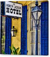 The Andrew Jackson Hotel - New Orleans Canvas Print