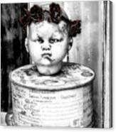 The Antique Doll's Head Canvas Print