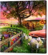 The Appalachian Farm Life In Beautiful Morning Light Canvas Print