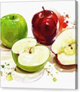 The Apple Focus Canvas Print