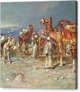 The Arab Caravan   Canvas Print