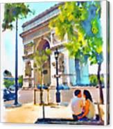 The Arc De Triomphe Paris Canvas Print