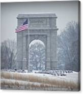 The Arch At Valley Forge Canvas Print