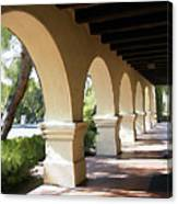 The Arches Mission Santa Ines Canvas Print