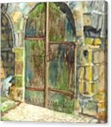 The Archways Of Bandouille 12th Century Monastery Sevres France Canvas Print