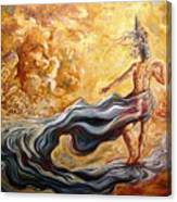 The Arrival Of The Goddess Of Consciousness Canvas Print