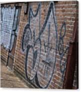 The Art On The Brick Canvas Print