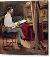 The Artist Morot In His Studio Canvas Print