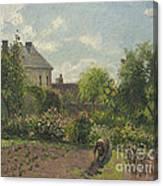 The Artist's Garden At Eragny Canvas Print