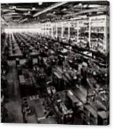 The Assembly Plant Of The Bell Aircraft Corporation In 1944 Canvas Print