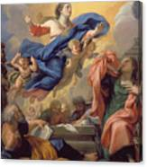 The Assumption Of The Virgin Canvas Print