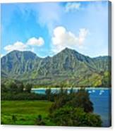 The Backside Of The Napali Coastline Canvas Print