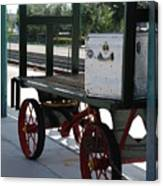 The Baggage Cart And Truck Canvas Print