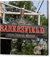 The Bakersfield Sign Canvas Print