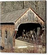 The Baltimore Covered Bridge - Springfield Vermont Usa Canvas Print