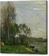 The Banks Of The Oise Canvas Print