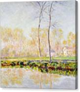 The Banks Of The River Epte At Giverny Canvas Print