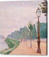 The Banks Of The Seine At Neuilly 1886 Canvas Print
