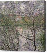 The Banks Of The Seine Canvas Print