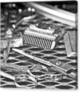 The Barber Shop 10 Bw Canvas Print