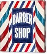 The Barber Shop Canvas Print
