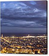 The Barcelona City Skyline, Spain Canvas Print