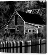 The Barn Bw  Canvas Print