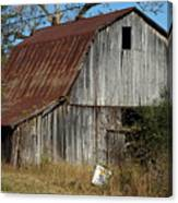 The Barn By The Road Canvas Print