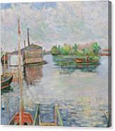 The Bateau Lavoir At Asnieres Canvas Print