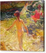 The Bath - Javea Canvas Print