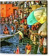 The Bathing Ghats Canvas Print