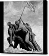 The Battle For Iwo Jima By Todd Krasovetz Canvas Print