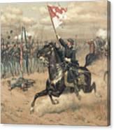 The Battle Of Cedar Creek Virginia Canvas Print